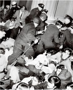 In this image police bust the protesters, April Photo credit: Charles Ruppmann / New York Daily News Archive / Getty Images New York Daily News, Vietnam War, Ny Times, Photo Credit, American History, Columbia, Student, Pos, Image