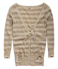Look at this #zulilyfind! Ecopaper Stripe Cardigan #zulilyfinds