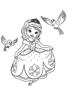 Sofia the First Disney Princess Coloring Pages | Dibujos Para Pintar y Colorear Gratis