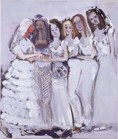 'Ryman's Brides' - 1997 - by Marlene Dumas (South African, b. Marlene Dumas, South African Artists, Magazine Art, Sculpture, Artist Art, Figurative Art, Painting & Drawing, Figure Painting, Oil On Canvas