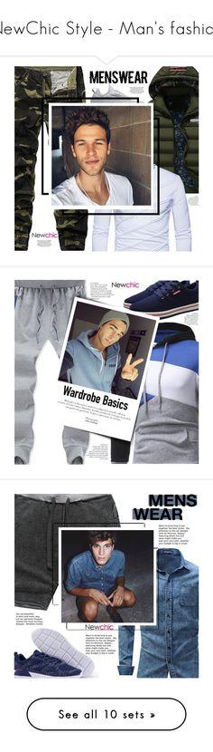 """NewChic Style - Man's fashion"" by mymilla on Polyvore featuring men's fashion, menswear, Men's Society, Hawkins & Brimble, Garance Doré, Baxter of California e 7 For All Mankind"