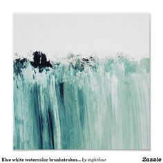 Liven up the walls of your home or office with Abstract wall art from Zazzle. Check out our great posters, wall decals, photo prints, & wood wall art. Watercolor Wave, Watercolor Paintings, Ocean Tattoos, Poster Store, Blue Poster, Wave Art, Abstract Wall Art, Ocean Waves, Wall Art Decor