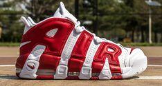 "Releasing: Nike Air More Uptempo ""Bulls"" (White/Gym Red) - EU Kicks: Sneaker Magazine Nike Air Shoes, Nike Air Jordans, Nike Air Max, Sneakers Nike, New Balace, Nike Air Uptempo, Sneaker Magazine, Fresh Shoes, Sneaker Boots"