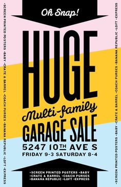 I'm Having a Garage Sale with Screen Printed Posters! | Allan Peters' Blog