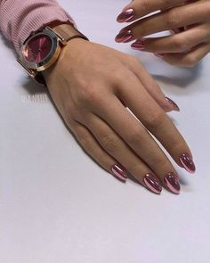 Easy Matte Nail Designs Ideas You'll Love - Page 60 of 62 Need new nails? We have gathered 62 stylish matte nails to inspire you. Matte can be used to create many different looks. Matte Nails, Acrylic Nails, Matte Pink, Metallic Nails, Black Nails, Matte Black, Crome Nails, Nagel Gel, Almond Nails