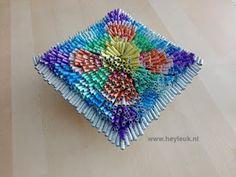 HeyLeuk : 3D abstract schilderij van gerold papier