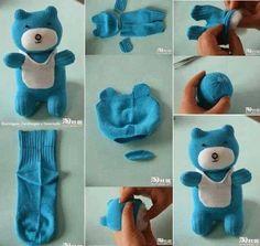 çoraptan ayıcdık yapımı