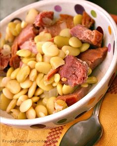 Lima beans with ham recipe - She might not be much of a storyteller but she can cook!