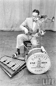 One Man Band (Vintage Photos) from Samm Bennett collection. Wow!