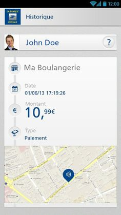Banque Postale contactless wallet uses geolocation to augment transaction history