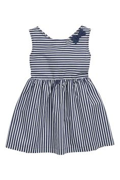cotton dress   H&M - Vzadu výstřih do véčka a zapínání na cvoček. Šev v pase a nabíraná sukně. Bez podšívky.