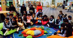Children listening to Shaikha Shamma Bint Sultan Bin Khalifa Al Nahyan, granddaughter to UAE President, reading a story from Reemiyat series through ADEC initiative 'Abu Dhabi Reads'. United Arab Emirates, Abu Dhabi, Uae, Reading, Children, Young Children, Boys, Kids, Reading Books