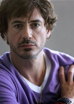 Robert Downey Jr.    need to show my friends it's okay that men wear purple. purple sweaters specifically. LOL