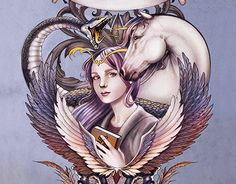 """Check out new work on my @Behance portfolio: """"Cover Art Commission - Inkheart trilogy."""" http://be.net/gallery/52331121/Cover-Art-Commission-Inkheart-trilogy"""