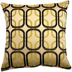 Linked Black 17-inch Throw Pillows (Set of 2) | Overstock.com Shopping - Great Deals on Throw Pillows
