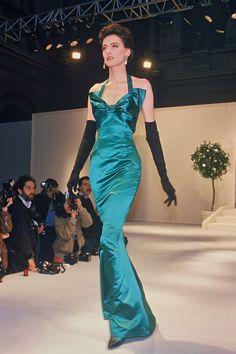 Inès de la Fressange on the catwalk for Yves Saint Laurent Couture, 1986