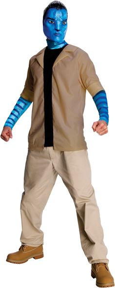 Avatar Movie Jake Sully Adult Costume Description: Give the sky people what's coming to them as this passionate warrior! Enter the extraordinary world of Pandora and le Avatar Halloween Costume, Avatar Costumes, Scary Costumes, Movie Costumes, Halloween Costumes For Kids, Adult Costumes, Halloween Ideas, Adult Halloween, Halloween Party Supplies
