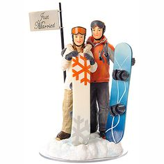 Snowboading Wedding Cake Topper (Source: magicalday.com)
