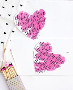 Gratis Valentijnsdagkaart om zelf uit te printen