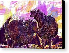 Sheep Wool Animal Meadow Nature Canvas Print / Canvas Art by PixBreak Art Sheep Wool, Abstract Canvas, Great Artists, Moose Art, Tapestry, Horses, Art Prints, Nature, Poster