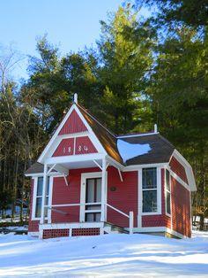 """""""Little Red"""" Dr Trudeau's original """"cure cottage"""". mar 25, 2015."""