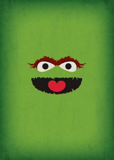 Sesame Street Character Oscar the Grouch Minimalist by TheRetroInc