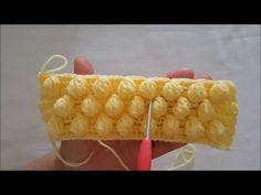 DIY Learn How to Make Infinity Scarf Circle Loop Cowl Beginner Finger Crochet Chain Arm Knitting - Crochet Dollies Puff Stitch Crochet, Crochet Crocodile Stitch, Bobble Stitch, Crochet Chart, Crochet Stitches, Arm Knitting, Baby Knitting Patterns, Crochet Patterns, Finger Crochet