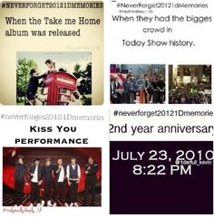 #neverforget20121Dmemories 2 anniversary❤, TMH, and Today Show.