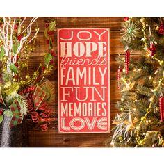 Vintage Joy & Hope Art Plaque