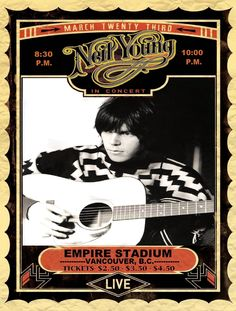 Neil Young Concert Poster