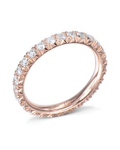 c6aba95a76ad1 18 karat rose gold ring French-set with 25 round brilliant cut diamonds  (0.96
