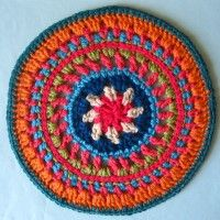 Crochet Mandala Wheel made by Jackie, Bristol, UK for yarndale.co.uk