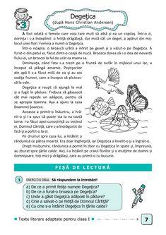 Clasa I : Lecturi şi fişe de lectură. Clasa I Math For Kids, 4 Kids, Activities For Kids, Children, After School, Back To School, Romanian Language, Preschool At Home, Kindergarten