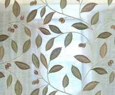 Black Friday 10 Off Ivory Leaves Embroidery Sheer By Fabricmart Fabric Panels Curtain
