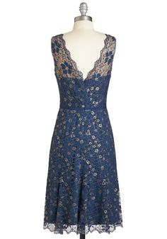 Bound to Astound Dress. The flickering chandelier light casts a calming glow across the room as heads turn to focus on you striding through the entryway in this navy-blue dress. #blue #modcloth