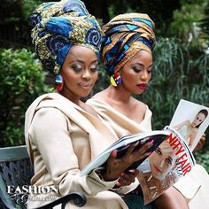 South African Artist Thembi Seete and South African Actress Terry Pheto collaborated to take a series of photos in mixed ankara print outfits for Africa African Dresses For Women, African Attire, African Wear, African Women, African Style, African Design, African Fashion Ankara, Ghanaian Fashion, Terry Pheto