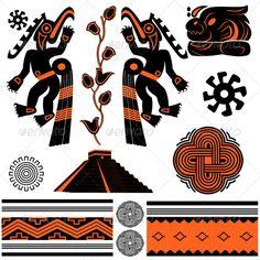 American ornaments and pyramid #GraphicRiver Vector of ancient American ornaments and pyramid. Package contains: EPS (8 version), JPG (5000×5000 pixels, RGB ) Created: 5July12 GraphicsFilesIncluded: VectorEPS Layered: No MinimumAdobeCSVersion: CS Tags: Guatemala #Yucatan #american #ancient #aztec #belize #culture #decoration #element #god #indian #jungle #maya #mayan #mesoamerican #mexico #native #ornaments #pattern #ritual #sacrifice #spirit #symbol #tattoo #temple #toltec #tribal