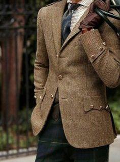 Ralph Lauren tweed and tartan