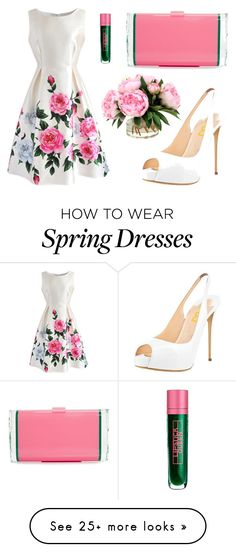 """""""Envy Spring"""" by galletitah on Polyvore featuring Edie Parker, Chicwish, Lipstick Queen, Pink, GREEN, pinkclutch and Spring2017"""