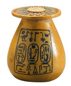 Kohl jar bearing the names of Amenhotep III and Tiye. Egyptian faience. New Kingdom, 18th Dynasty, reign of Amenhoptep III, ca. 1391-1353 BC. Egypt Mummy, Egypt Museum, Center Line, Amenhotep Iii, Valley Of The Kings, Antique Pottery, New Wife, Ancient Civilizations, Ancient Egypt