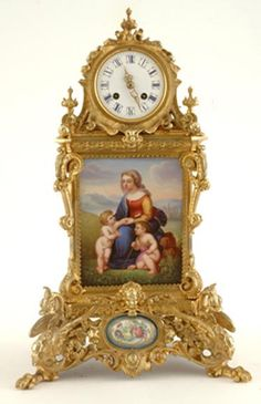 An impressive French gilt bronze mantel clock Levy Freres, circa 1880, having an eight-day bell striking movement