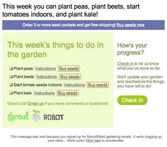 Sprout Robot - when to plant/where