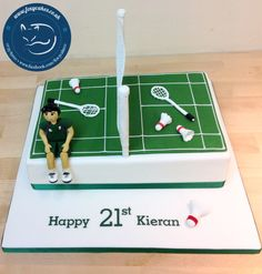 Badminton themed cake, made by the Foxy Cake co!