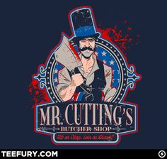 Bill the Butcher by Corrose - Shirt sold on May 18th at http://teefury.com - More by the artist at http://darklightvisual.com
