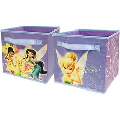 Disney - TinkerBell Pop-Up Kid?s Toy Storage Cubes - Walmart.com