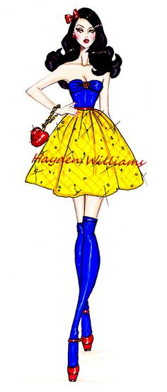 The Disney Diva's collection by Hayden Williams: Snow White by Fashion_Luva, via Flickr