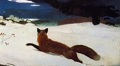 Fox Hunt realism painting by Winslow Homer - a study of realism painting