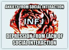 Totally! I get anxious from too much social interaction, and depression from not enough...