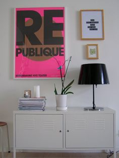 IKEA PS cabinet - walldecor - poster - picture frame - decor - pink