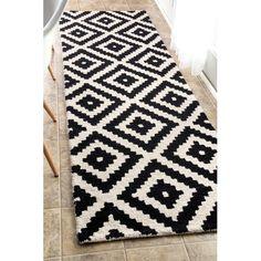 Found it at Joss & Main - Kelly Black & Cream Geometric Wool Hand-Tufted Area Rug